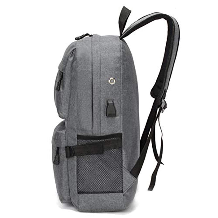 Laptop Backpack Travel Rucksack Lightweight School Backpack with USB Charging Port
