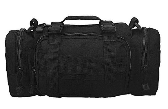 Black Deployment Military Duffle Shoulder Bag +6 Key Buckle