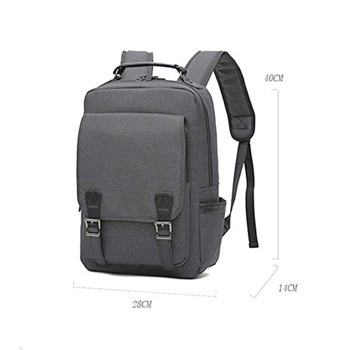 Versatile Designed Canvas Laptop Backpack 15.6""