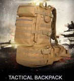50L Military MOLLE Tactical Army Backpack with Waist Strap