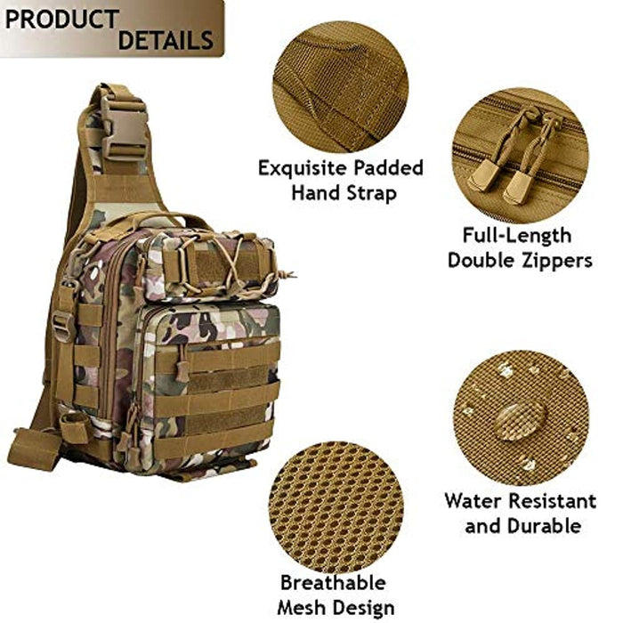 15L Molle Military Tactical Single Shoulder Sling Backpack