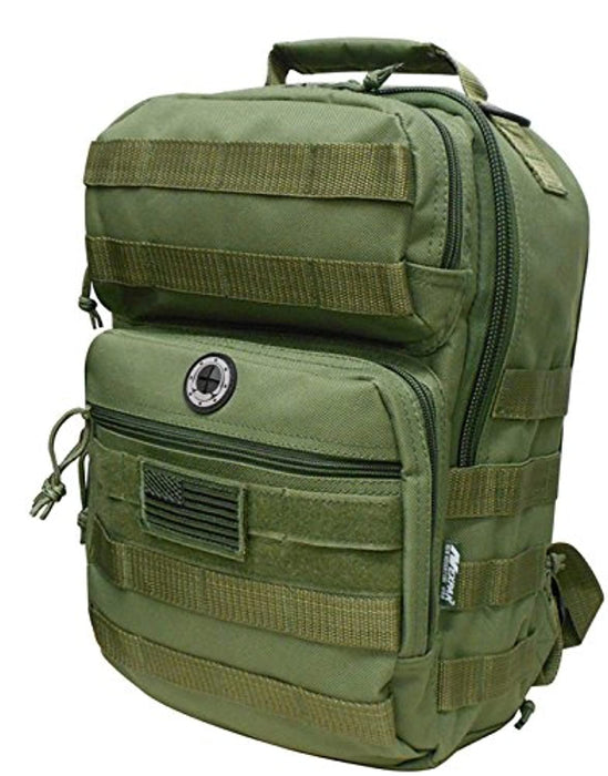 Army Green Tactical Military Camping Hiking Outdoor Backpack w/MOLLE straps & Hydration Pocket