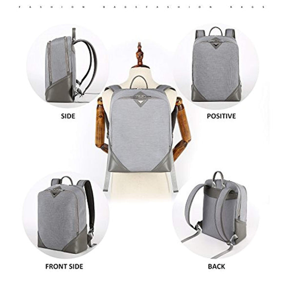 Womens Lightweight Conventional Water Resistant Laptop Backpack 15.6