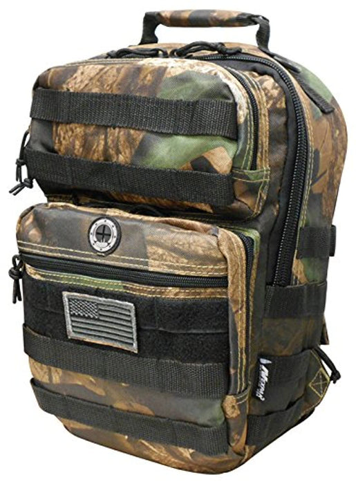 Hunters Camo Tactical Military Camping Hiking Outdoor Backpack w/MOLLE straps & Hydration Pocket