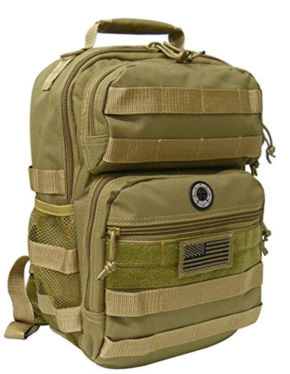 Tan Tactical Military Camping Hiking Outdoor Backpack w/MOLLE straps & Hydration Pocket
