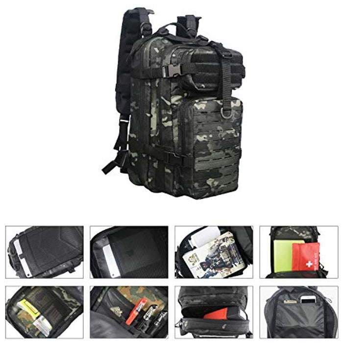 Tactical Small Assault Backpack Military Backpack Tactical Bag for Outdoor, Hiking, Camping & Travel