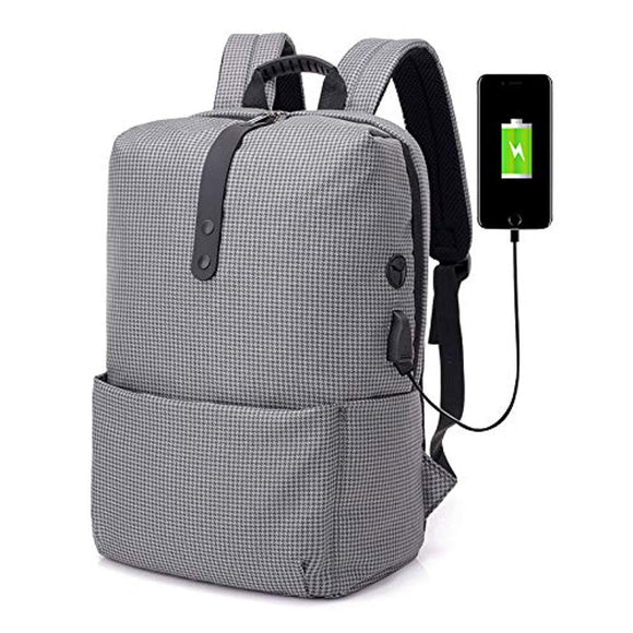 Contemporary Backpack with USB Charging Port & 15in Laptop Compartment