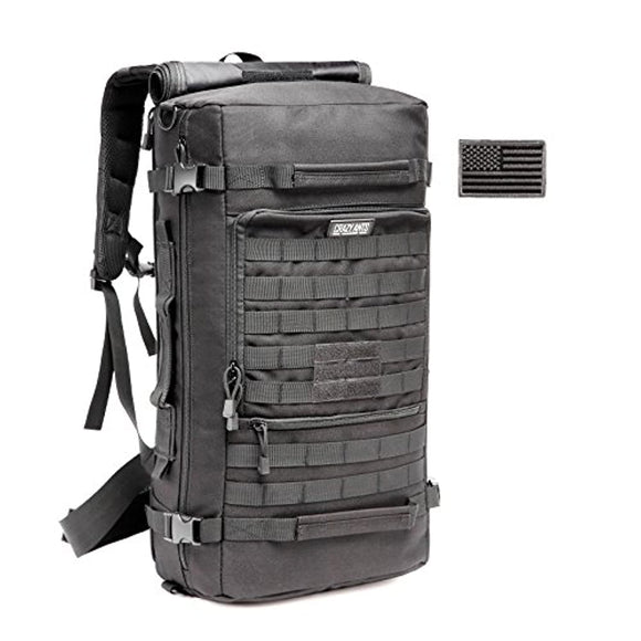 Multifunctional Military Tactical Survival Backpack & Duffle Bag with Molle Webbing