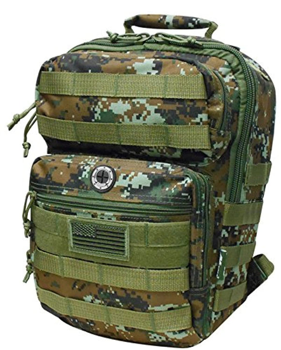 Brown Digital Camo Tactical Military Camping Hiking Outdoor Backpack w/MOLLE straps & Hydration Pocket