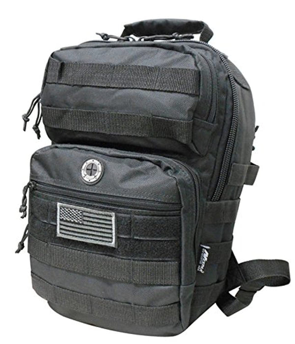 Black Tactical Military Camping Hiking Outdoor Backpack w/MOLLE straps & Hydration Pocket