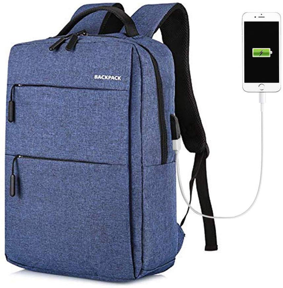 Waterproof and Scratch proof Laptop Backpack for with USB Charging Port