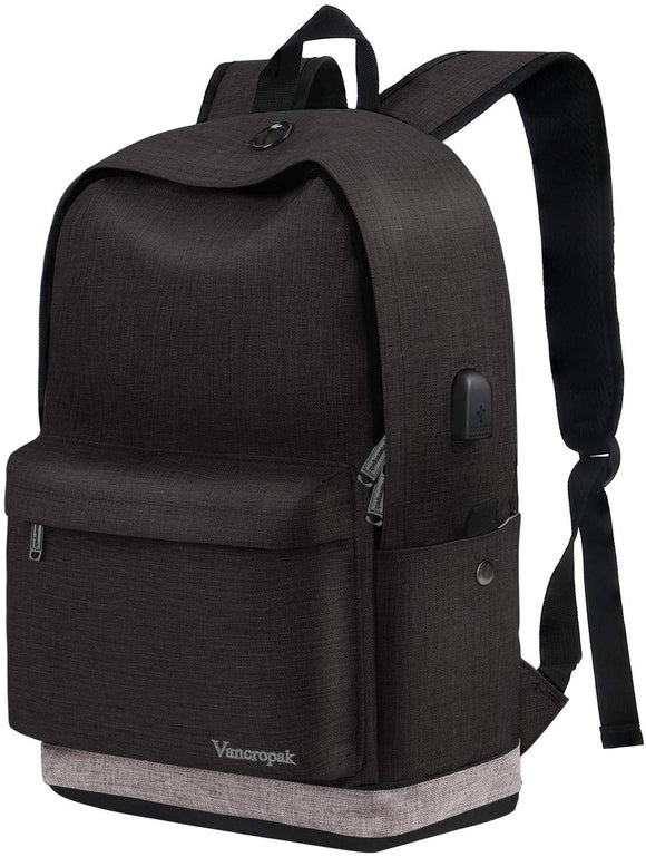 Canvas Laptop School Backpack 15.6