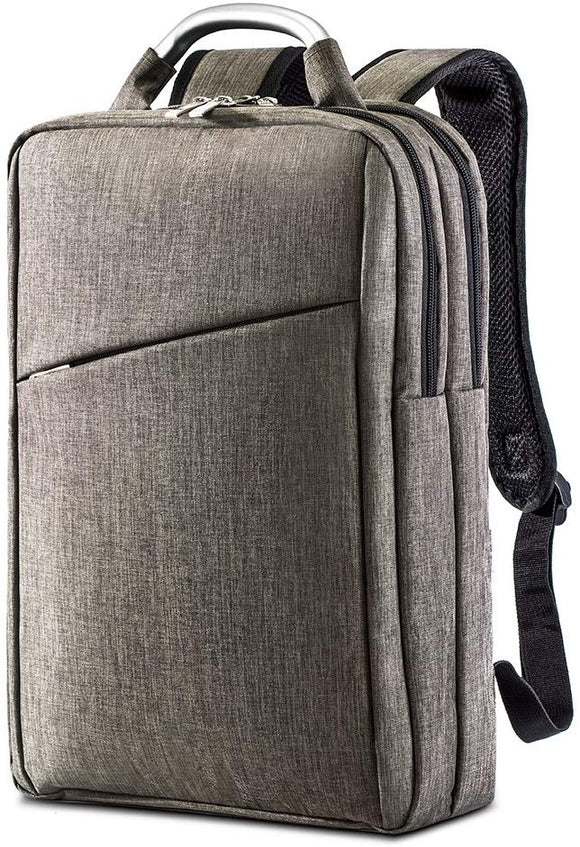 Dual Zip Compartment Laptop Backpack with Metal Grip Handle