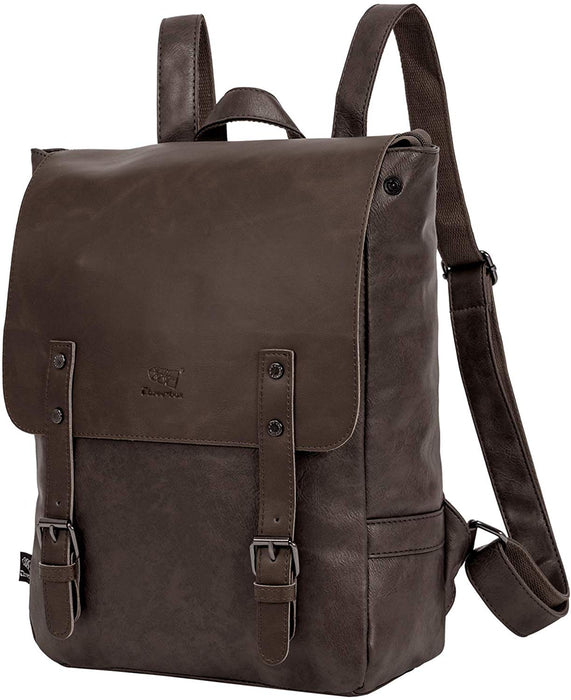 "On The Go Leather Backpack with 14"" Laptop Compartment"