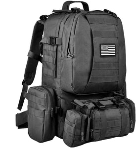50L Military MOLLE 600D 4 in 1 Tactical Army Backpack