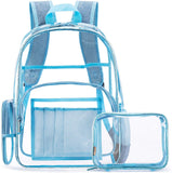 "Stadium Approved Clear 15"" Laptop Backpack with Clear Cosmetic Bag Included"