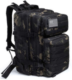 Large 45L Military Tactical Backpacks Molle Army Assault Pack 3 Day Bug Out Rucksack