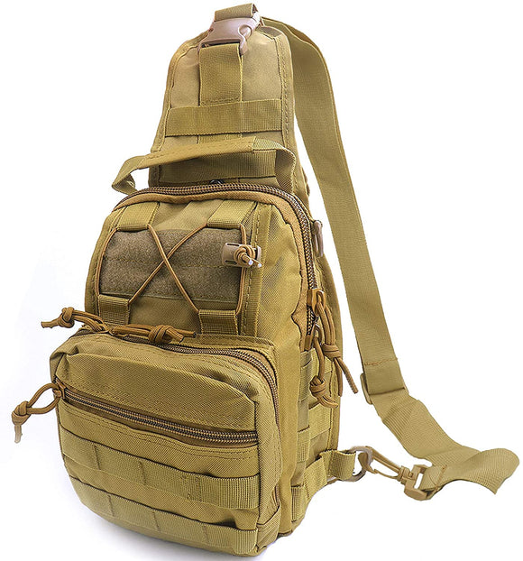 Outdoor Tactical Sling Bag Backpack, Molle Sling Shoulder Messenger Chest Pack, Military Sling Multipurpose Backpack