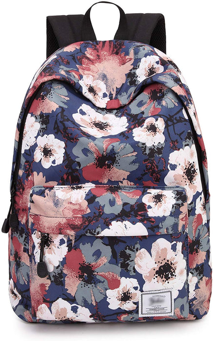 Chic Floral School Laptop Backpack