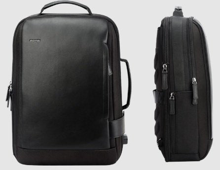 "Men's Expandable Nylon Business 15"" Laptop Backpack with USB Charging"