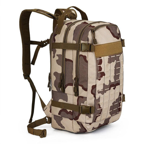 30L Camping Hiking Military Backpack-Three Sand Camo-ERucks