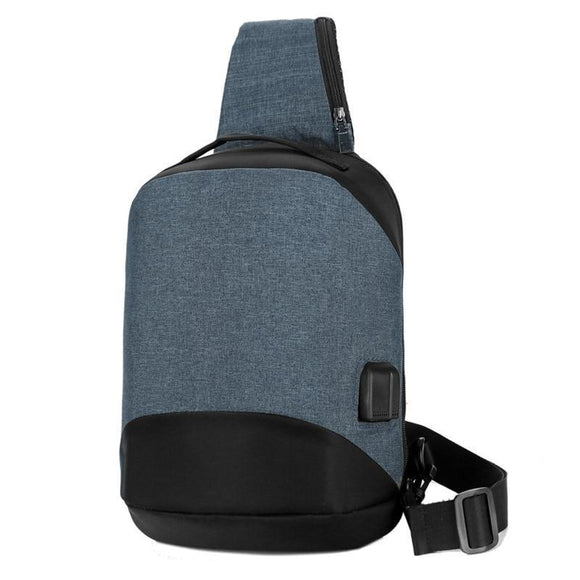 Compact Cross Body Single Shoulder Backpack with USB Charging-Blue-10 To 15 inch-ERucks