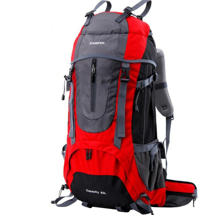 Creeper 60L Camping Nylon Rucksack-Red-50 - 70L-ERucks