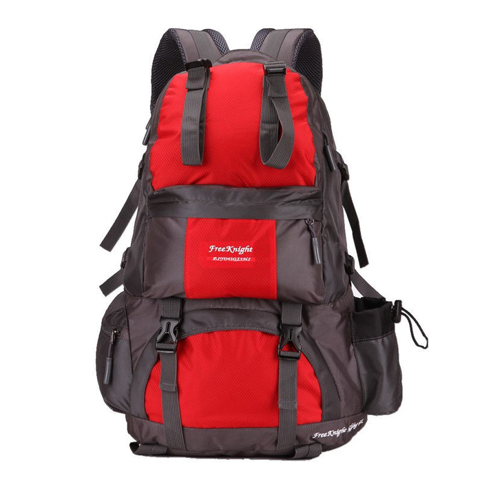 50L High Capacity Outdoor Hiking Camping Trekking Backpack-Deep Red-ERucks