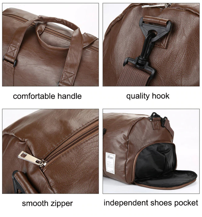 Vegan Leather Business Travel Duffel Bag
