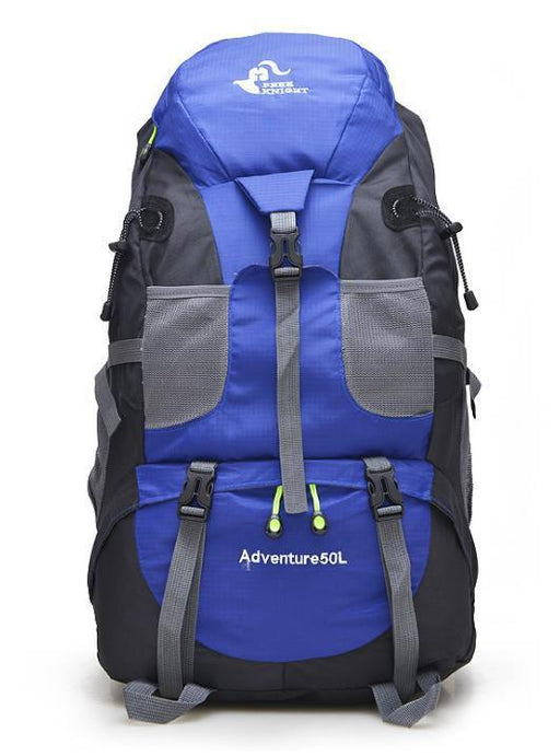 50L Large Waterproof Climbing Hiking Mountaineering Backpack-Ice Blue-ERucks