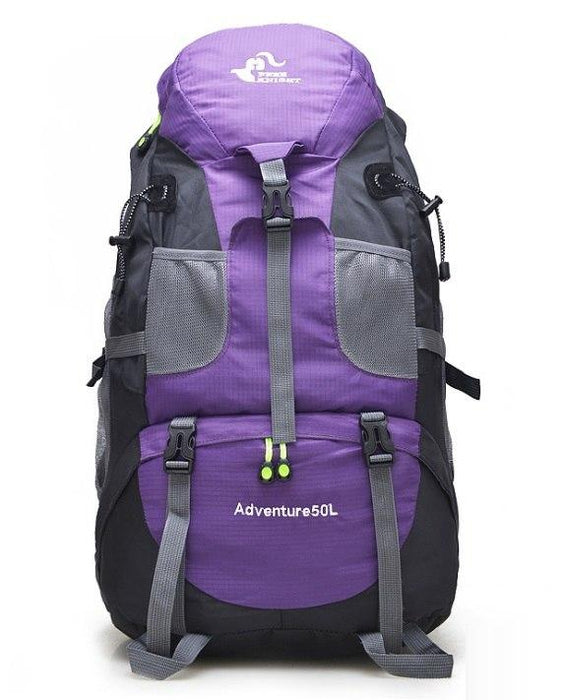 50L Large Waterproof Climbing Hiking Mountaineering Backpack-Deep Purple-ERucks