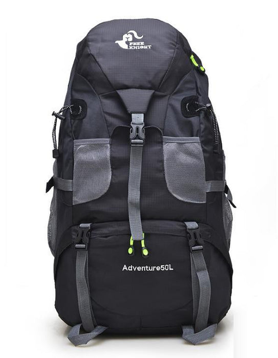 50L Large Waterproof Climbing Hiking Mountaineering Backpack-Tech Black-ERucks