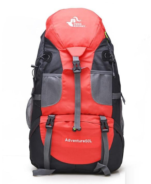 50L Large Waterproof Climbing Hiking Mountaineering Backpack-Bonfire Red-ERucks