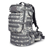 50L Military MOLLE Tactical Army Backpack with Waist Strap-ACU Camo-ERucks