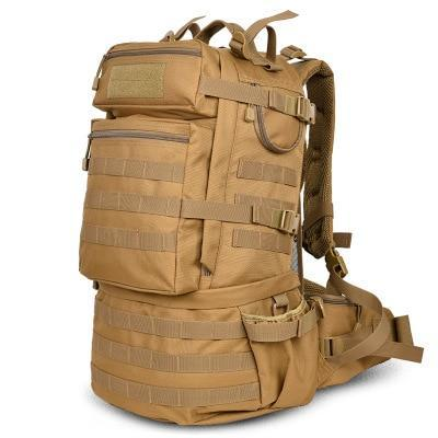 50L Military MOLLE Tactical Army Backpack with Waist Strap-Khaki-ERucks