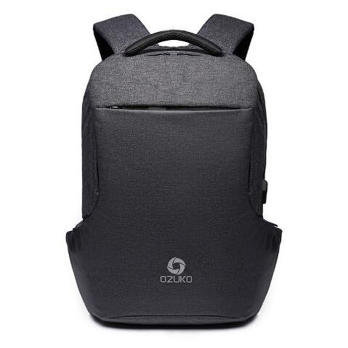 Multi-Function Anti-Theft Fashion Backpack with USB Charging-Black-ERucks