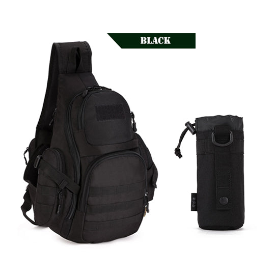 PROTECTOR PLUS 20L Military Molle Tactical Sling Backpack-Tactical Black w/Water Pouch-ERucks