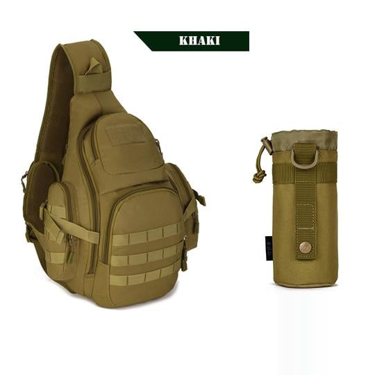 PROTECTOR PLUS 20L Military Molle Tactical Sling Backpack-Khaki w/Water Pouch-ERucks