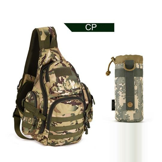 PROTECTOR PLUS 20L Military Molle Tactical Sling Backpack-CP Camo w/Water Pouch-ERucks