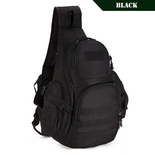 PROTECTOR PLUS 20L Military Molle Tactical Sling Backpack-Tactical Black-ERucks