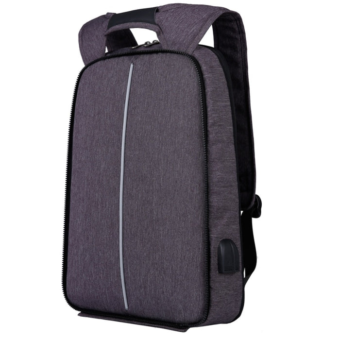 Slim Multi Compartment Laptop Backpack with USB Charging-1806 Basic Bag Grey-17.3inch-ERucks