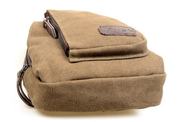 Men's Mini Canvas Shoulder Sling Bag