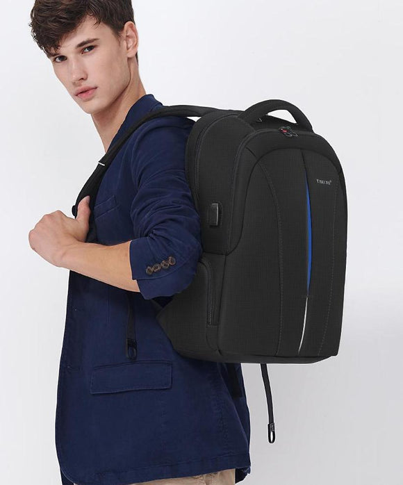 Men's Anti-Theft Laptop Backpack with USB Charging and TSA Lock