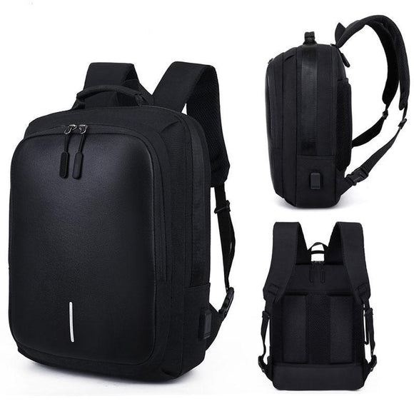 Swiss Design Large Anti-Theft Backpack with USB Charging