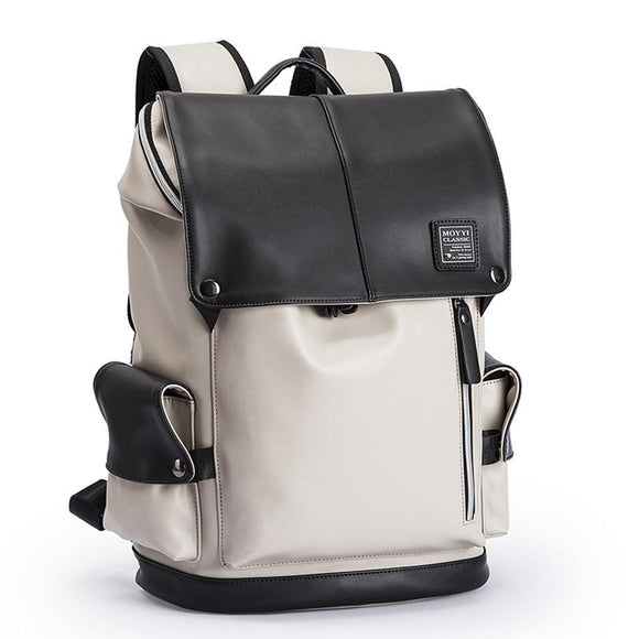The Executive Women's Leather Laptop Backpack with USB Charging