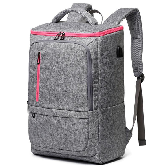Women's Large Capacity Gym Backpack with USB Charging