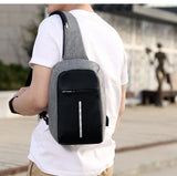 Small Original Anti-Theft Backpack Cross Body Single Shoulder With USB Charging
