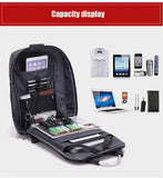 "eRucks Men's Anti-Theft Travel 15"" Laptop Backpack with USB Charging and TSA Lock"