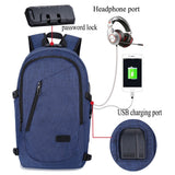"eRucks Women's Medium Anti-Theft 15"" Laptop Backpack with USB Charging and TSA Lock"