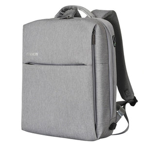 "Caden Men's Square 15"" Laptop Backpack with USB Charging"